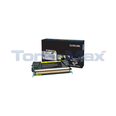 LEXMARK X748 TONER CARTRIDGE YELLOW HY